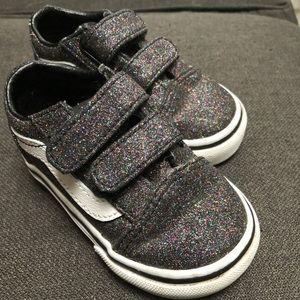 Toddler Girls Van's glitter shoes